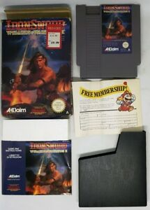 Iron Sword Wizards & Warriors 2 Nintendo NES Boxed With Manual PAL UK VGC