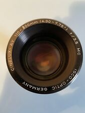 """Projector lens for SLIDE ISCO OPTIC CINELUX AV 110-200mm 4.307.75"""" f/3.5 MC"""