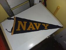"Original 1940s Navy Football Pennant 11"" x 26"""