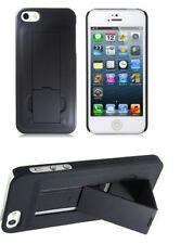 Funda Carcasa Soporte Pie iPhone 5 5S Negro Stand