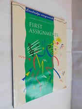 First Assignments in music by David Tutt PB book teaching music