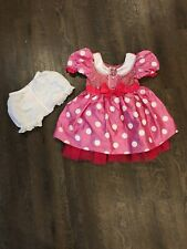 Disney Store Minnie Mouse Pink White Costume Dress Child Size 3