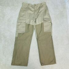 Cabelas Upland Hunting Cargo Pants Mens 32 Short Roughneck Brush Guard Lined