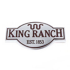 Door Tailgate King Ranch Emblem Logo Sticker For Ford F150 F250 F350 F450