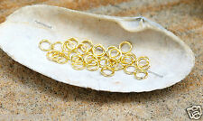 12g 100+Gold plated Strong Open Jump Rings 6mm x1mm thick pendant earrings