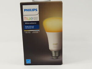 PHILIPS HUE WHITE AMBIANCE A19 10W DIMMABLE LED SMART BULB- NEW IN BOX