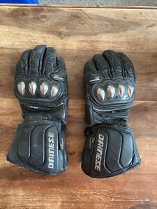 Dainese DTEC Engineered Full Metal Titanium DCP Black Motorcycle Gloves Size M