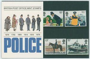 G.B. BRITISH POST OFFICE MINT PRESENTATION STAMP PACK POLICE 1979