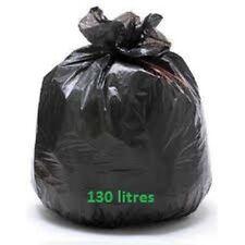 Sac poubelle BD noir 130 L superlène 45 µ (équival. 55 µ) - Carton  de 100 sacs