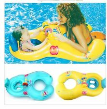 Inflatable Mother Baby Soft Swim Float Raft Kid's Chair Seat Swim Ring Pool Infl