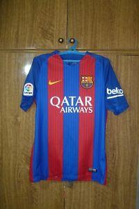 Barcelona FC Nike Football Shirt Home 2016/2017 Barca Soccer Jersey Men Size S