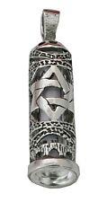 925 Sterling Silver Oxidized Mezuzah Tube Pendant
