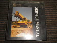 GROVE RT600C SERVICE Maintenance Manual Package 09/1992