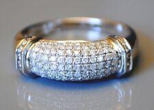 14kt  Men's White Gold Diamond Ring/Band - Round Cut Diamonds 1.15 ct