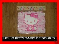 TAPIS SOURIS NEUF HELLO KITTY CHAT ORDINATEUR INFORMATIQUE PC PORTABLE
