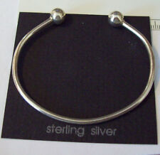 """7"""" Sterling Silver 9 gram Removable 8mm Bead Wire Charm Bracelet"""