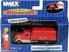IMEX AMERICAN CLASSIC TRUCKS FIRE DEPT TRUCK #16 #870040  FIRE TANKER TRUCK  RED