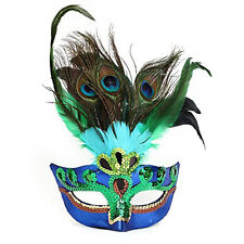 Halloween Xmas Cosplay Peacock Feather Mardi Gras Masquerade Mask Party Costume