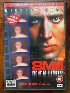 8mm DVD 1999 Snuff Movie Thriller w/ Nicolas Cage and Joaquin Phoenix