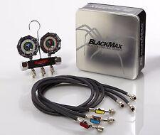 "CPS BlackMax® MBH4P5EZ Black & Chrome Manifold w/ 60"" Ball Valve Hoses"