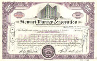 Stewart-Warner Corporation > 1950s 1960s Virginia stock certificate share