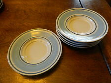 5  Primitif Museum Collection Stoneware saucer plates ONLY for coffee cups  6''