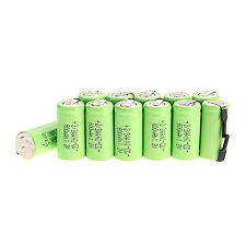 12 pcs Ni-Cd battery 1.2V 2/3AA 600mAh Green rechargeable battery NiCd Batteries