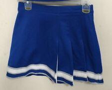 Real Authentic Genuine Cheer Cheerleading Skirt Genuine CDT Blue White Silver