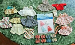 Vintage Doll Clothes and shoes - Ginny doll, Vogue dresses, ++