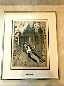 """Marc Chagall """"The Marriage"""" 10x14 Original Etching with COA Framed"""