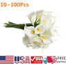 Wholesale Artificial Calla Lily Fake Real Touch Flowers Bridal Wedding Bouquet