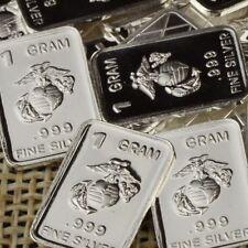 Lot 30 X 1 Gram  .999  Fine Silver Bar Bullion  / USMC   WPT336 oz