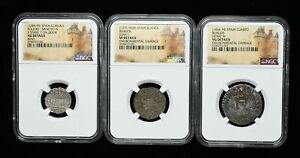 Lot of 3 NGC Certified coins from Medieval Spain, some better types