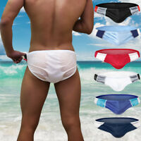Men's Sexy Swimwear Surfing Beach Shorts Bikini Swim Briefs Fashion Swimsuit Hot