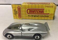 1983 Matchbox  #62 Oldsmobile Aerotech silver Original Box