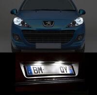 4 ampoules à LED blanc veilleuses + feux de plaque pour Peugeot 207 307 407 4007