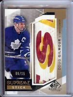 Doug Gilmour 2015-16 SP Game Used Supreme Stick 3 Color Maple Leafs #PA-DG 06/15