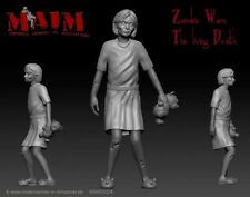 Zombie - little Girl / 1:35 Scale 3D printed figure kit from MAiM