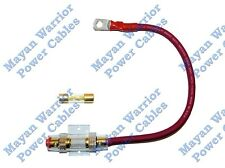 4 AWG Gauge Heavy Duty Cable Inline Fuse Holder 60 AMP Fuse Battery - 12 inch