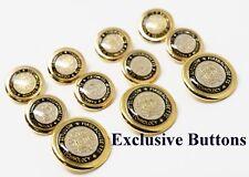 MIT Gold Metal Blazer Buttons Set
