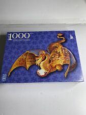 Fx Schmid Fire Dragon Shaped 1000 Piece Die-cut Puzzle Complete Gorgeous 3' ft.