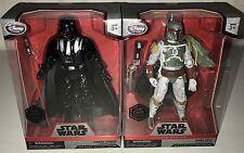 "*NEW* Disney Elite Series Star Wars 7"" Darth Vader & Boba Fett Die Cast Figures"