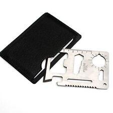 Steel Multi Tool Card Emergency Survival Pocket Steel Knife Saw Bottle Opener