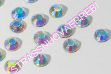 1000 STRASS  TERMOADESIVI QUALITA' SUPERIORE 4 MM (SS16) COLOR CRYSTALLO AURORA