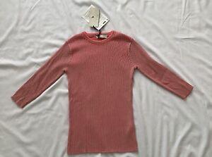 Stella Mccartney Kids Pink Ribbed Tshirt Size 12