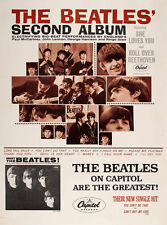 "The Beatles Second Album Promotional Poster Replica 14 x 11"" Photo Print"