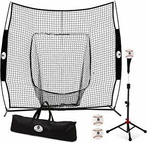 Morvat Baseball Net and Baseball Tee Bundle, Baseball Pitching Net, Baseball