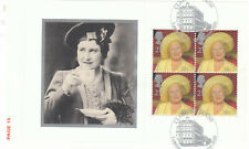 (55595) GB Used Queen Mother 100th Birthday FULL Booklet Pane 2000 ON PIECE