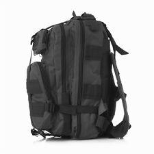 25L Hiking Camping Pack Bag Army Military Tactical Rucksack Backpack Black