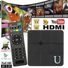 Smart TV BOX 2+16GB Kodi 18.0 Quad Core Android 7.1 Smart TV Box 4K Media Player